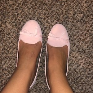 Pink flats with bow